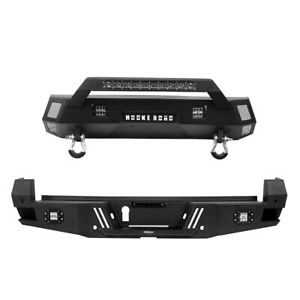 Off Road Black Steel Front Rear Bumper Bars Combo Fit Toyota Tacoma 2016 2021