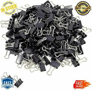 Mini Small Binder Clips Coating Clamps Paper Shiny Nickel Silver Plated Handles