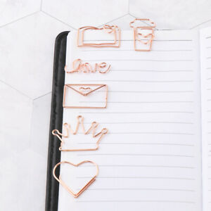 60pcs Home Love Heart Coffee Cup Letter Clamps Paper Clips Cute Bookmark Holder