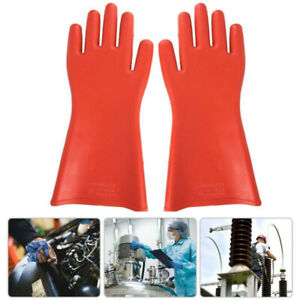 Rubber Insulated Waterproof Safety Anti electric Electricians Protective Gloves