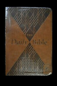 The Daily Bible nlt By F Lagard Smith 2019 Imitation Brown Leather New