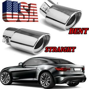 Universal Car Exhaust Pipe Tip Rear Tail Muffler Stainless Chrome Accessories