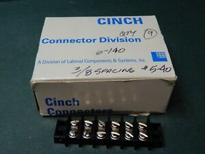 Cinch 6 140 6 Position Barrier Terminal Strips Qty 9 Nos 5 40 For 16 22 Awg