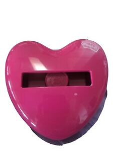 Post it Red Heart Holder Pop Up Note Dispenser Used