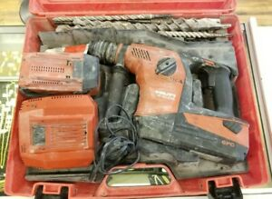 Hilti Te 30 A 36 A36 Cordless Hammer Drill 36v Kit 2 Batteries charger bits