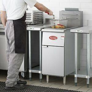 New 40 Lbs Commercial Deep Fryer Model Ff300 Stainless Steel Natural Gas Etl