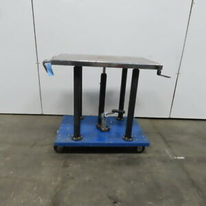 1 2 Ton Hydraulic Mechanical 4 Post Die Table Cart 24x36 Platform 36 To 54 Lift