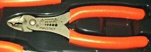 New Snap on Wire Stripper Cutter Crimper 7 orange Soft Handles Pwcs7acfo