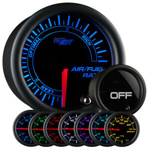 Used Glowshift Tinted 7 Color Needle Air Fuel Ratio Gauge Narrowband Afr