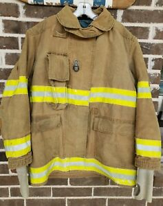 Globe 48l Fire Firefighter Turnout Coat Jacket Used As Is
