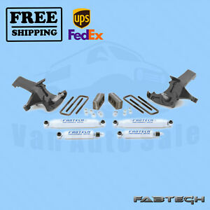 4 Spindle Syst W Shocks Fabtech For 1988 91 Gm C1500 Standard Cab 2wd