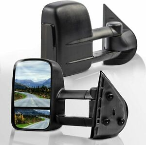 New Set Of 2 Towing Tow Mirrors Black Smoked Signal For Chevrolet Gmc 2003 2006