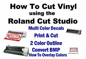 Roland Gs 24 Print And Cut How To Instructions Gx 24 Cricut Sillouette Cameo