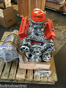 Chevy R 383 Stroker Motor Crate Engine 518hp Sbc A C Roller Turn Key 383 383 383