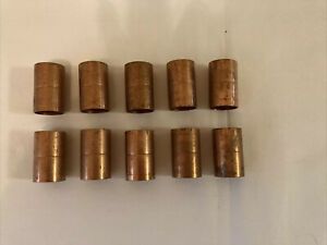 Lot Of 10 Lee 3 4 Copper Coupling With Stop Nos