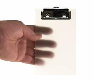 Primo Factotum Mini Clipboard Frosted Transparent 4 X 6 2 Pack