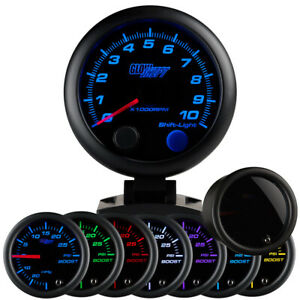 Slightly Used Glowshift Tinted 7 Color 3 34 Tachometer 0 10000 Rpm Gauge