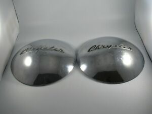 Vintage Pair Of 1946 1947 1948 Chrysler Dog Dish Hubcaps Rare Hard To Find 11