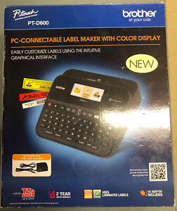 Brother Printer Ptd600 Pc Connectible Label Maker Black