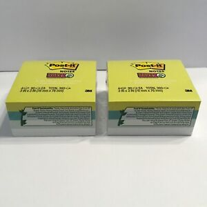 Post it Super Sticky Notes A World Of Color 3 X 3 90 Sheets Green Blue 8 Pads