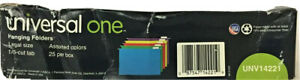 Universal Deluxe Bright Color Hanging File Folders Legal 1 5 cut Tab 25 box