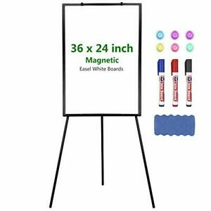 Easel Whiteboard Magnetic Portable Dry Erase Tripod Stand 36x24 Inch Black