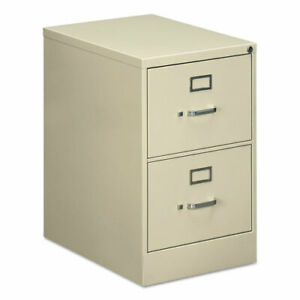 Two drawer Economy Vertical File Cabinet Legal 18 25w X 25d X 29h Putty Total