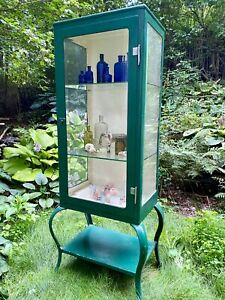 Gorgeous Turn Of The Century Era Medical apothecary Cabinet W Queen Anne Legs