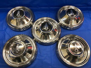 Vintage Set Of 5 1968 69 Plymouth 9 Dog Dish Hubcaps Barracuda Road Runner Gtx