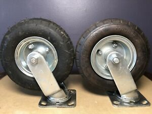 Kenda Lot Of Two 8 Pneumatic Air Tire Wheel Swivel With Cart Casters