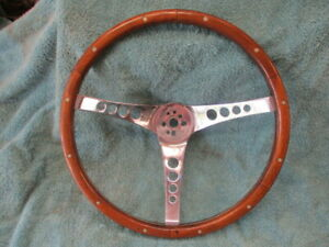 The 500 Steering Wheel Superior Performance Products 155 Walnut Vintage