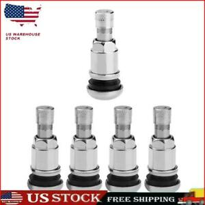 Bolt In Stainless Steel Car Tubeless Wheel Tire Valve Stems With Dust Caps S1