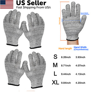 2pairs Cut Proof Stab Resistant Safety Butcher Gloves Kitchen Level 5 Protection