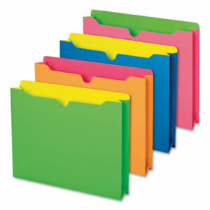 Twisted Glow Paper File Jacket 2 Expansion Straight Top Tab Letter Size