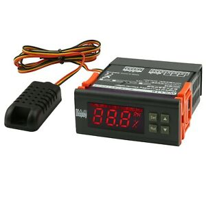 Dual Stage Digital Humidity Controller Switch Hygrometer For Mushroom Greenhouse