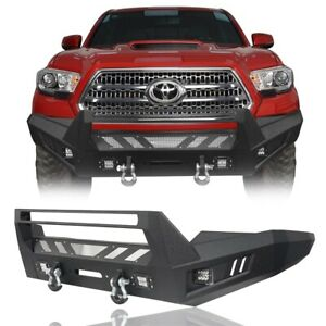 Off Road Full Width Front Bumper W Led Light D Ring For Toyoto Tacoma 16 21