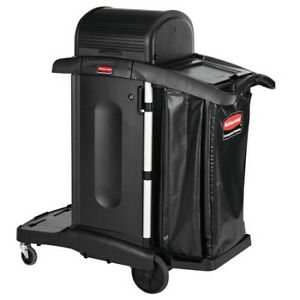 Rubbermaid Commercial 1861427 Exec Hi Security Janitorial Cleaning Cart 23 1w