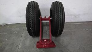Hamilton S 72166 pr 16 In Wheel Dia Easy turn Plate Caster With Pneumatic Wheels