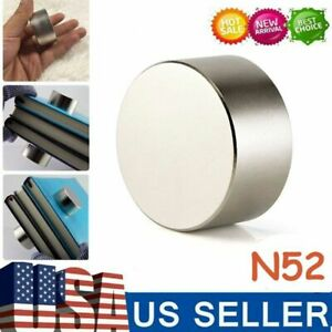 Round N52 Large Neodymium Rare Earth Magnet Big Super Strong Huge Size 40mm 20mm