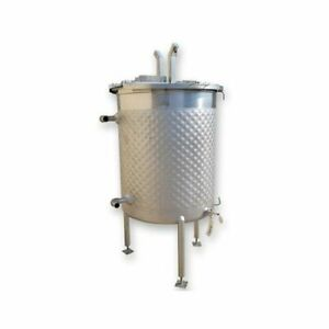 Used 195 Gal Stainless Steel Jacketed Liquid Kettle Mix Tank