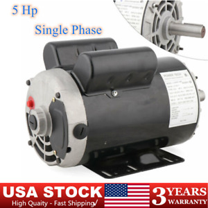5 Hp Air Compressor Duty Electric Motor 56 Frame 3450 Rpm Single Phase 7 8