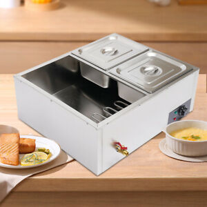 4 pan Countertop Food Warmer Electric Steam Table F Buffet Commercial Stainless
