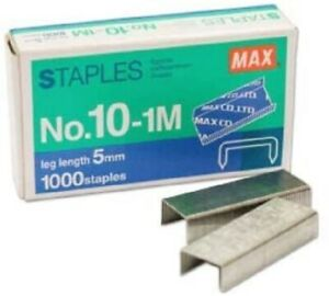 2000 Max 10 Mini Staples For Max Hd 10dfl Flat Clinch Stapler 2 Boxes Deal