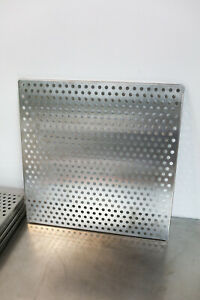 Stainless Steel Perforated Sheet Shelf Grill W 3 8 Holes 18 X 18 304