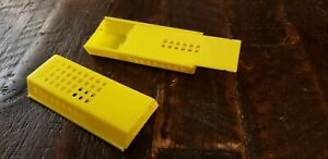 Pair Of Plastic Queen Bee Cages Used To Transport Or Ship Queen Bees Free Ship