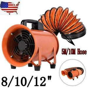 8 10 12 In Industrial Extractor Fan Blower W duct Hose Garage Electrical Utility