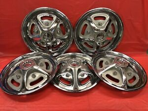 Vintage Set Of 5 1974 79 Ford Pick Up 15 Hubcaps Fomoco Mag Style