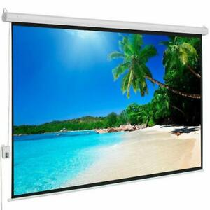 80 x60 Electric Motorized Projector Projection Screen Automatic Remote Control