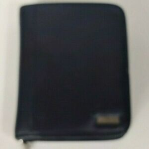 Franklin Covey Compact Black Simulated Leather Planner Zipper 1 5 6 Ring Binder