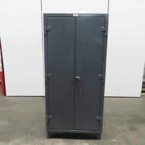 Strong Hold Industrial Cat 40 Tooling Tool Parts Storage Cabinet 36x20x78